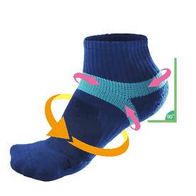 萊卡彈力除臭防護機能襪