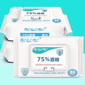 75%抗菌酒精濕紙巾80抽