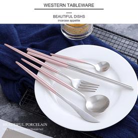 歐式304不鏽鋼銀色餐具