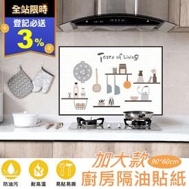 廚房耐高溫防污防油壁貼