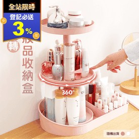 360度旋轉化妝品收納架