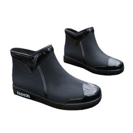 防水防滑暖絨拼接雨鞋