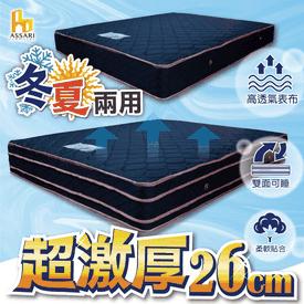 加厚四線6D獨立筒床墊