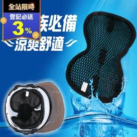 3D蜂巢式透氣安全帽墊