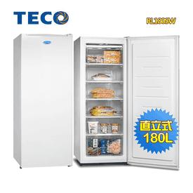 東元180L窄身直立冷凍櫃