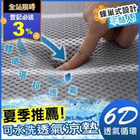 超舒眠水洗6D透氣枕床墊